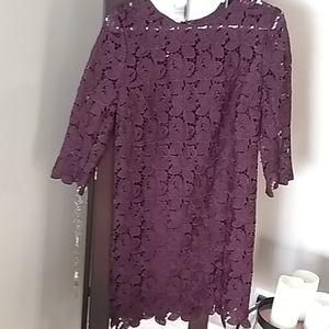 Beatuful lace Burgundy dress from loft